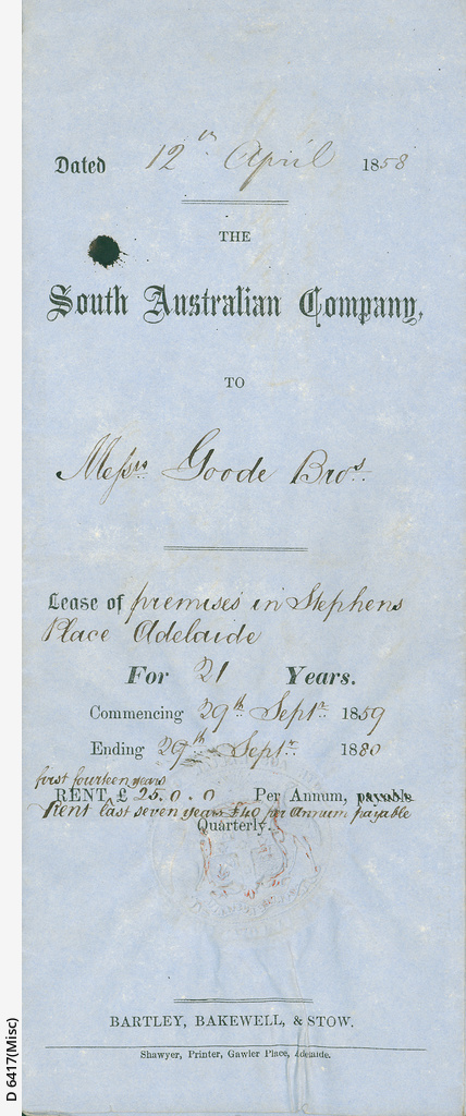 Papers of H R  Goode • Manuscript • State Library of South Australia